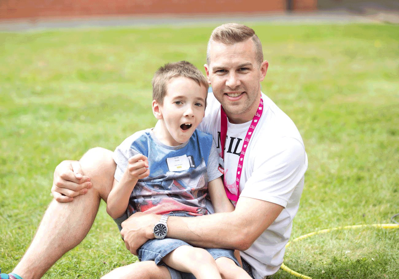 Lily Foundation fundraiser Neil Harper with his friend James, 8, who has mitochondrial disease