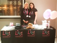 Lily Foundation staff Dr Lyndsey Butterworth and Liz Curtis at a mitochondrial disease Patient Information Day