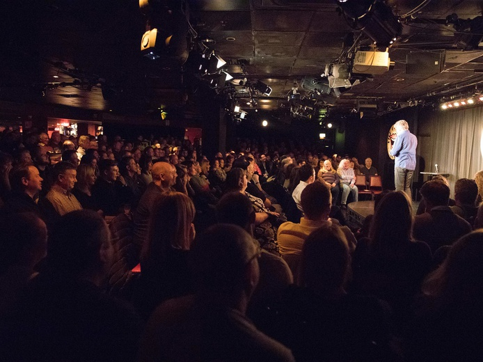 A packed house at the Comedy Store