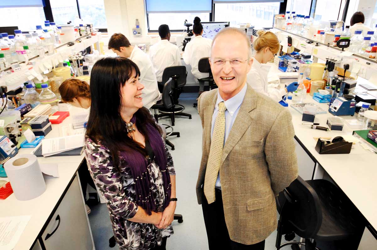 Prof Sir Doug Turnbull at the Wellcome Trust Centre for Mitochondrial Research, Newcastle