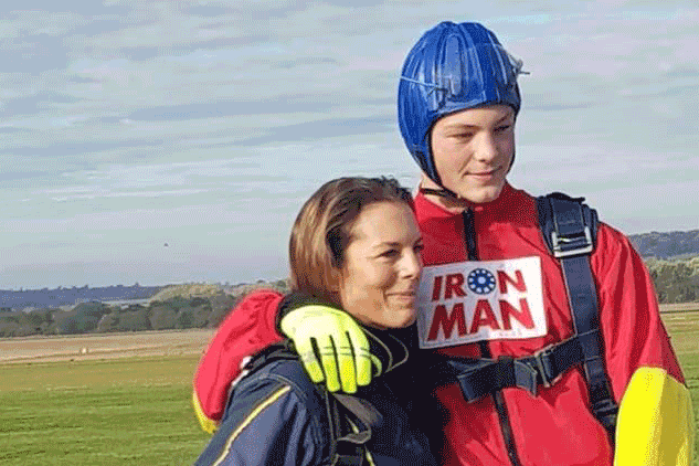Skydiving to raise money for The Lily Foundation, supporting people with mitochondrial disease